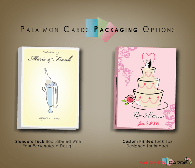boxessample Wedding Favors Card Decks