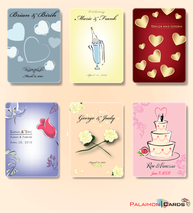 Wedding Favors Card Decks Palaimon Cards Quality Custom And