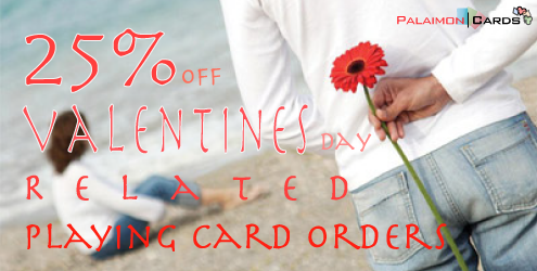 February Valentine's Month Special - Personalized Playing Cards