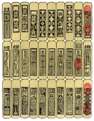 Playing Cards in China during the 1100s would have looked much like the above